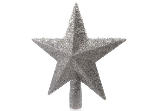 Punta estrella gris brillos