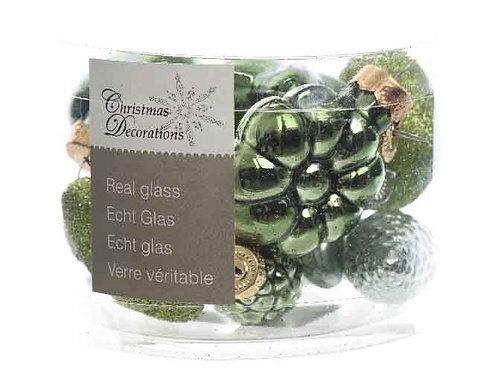 Pack figuras cristal verde