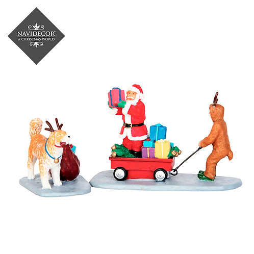 Santa Claus con carrito