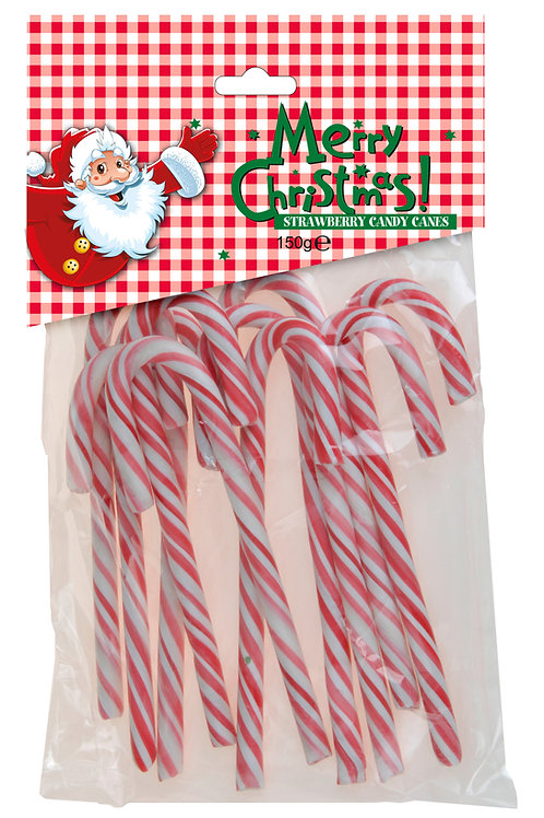 Bolsa 10 Candy canes comestibles