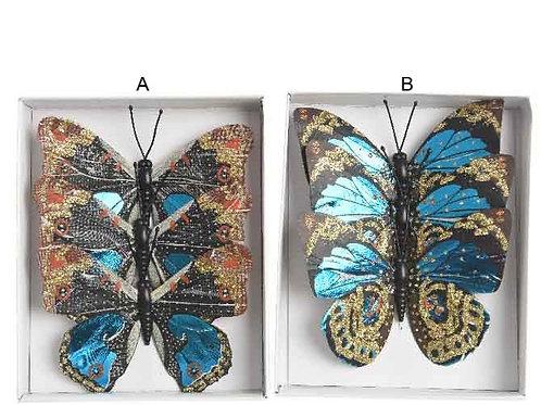 Pack 3 mariposas azules