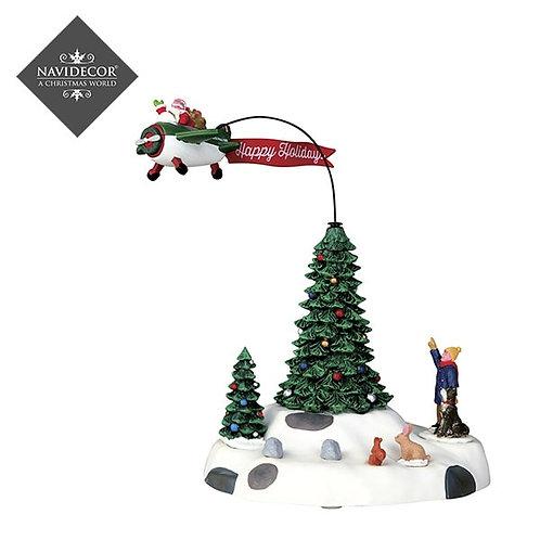 Santa Claus con avioneta