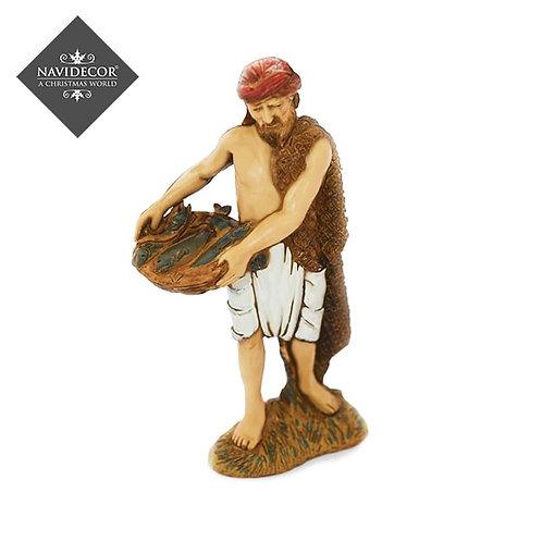 Pescador con bandeja