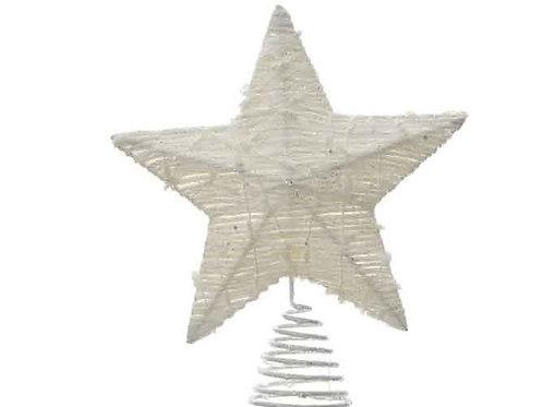 Estrella punta árbol blanca