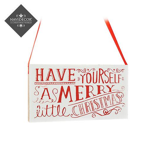 Colgante cartel Merry Christmas