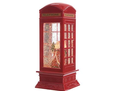 CABINA TELEFONICA C/PAPA NOEL C/LED 11X11X27CM 2L