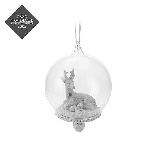 Bola Cristal i porcelana con figura interior