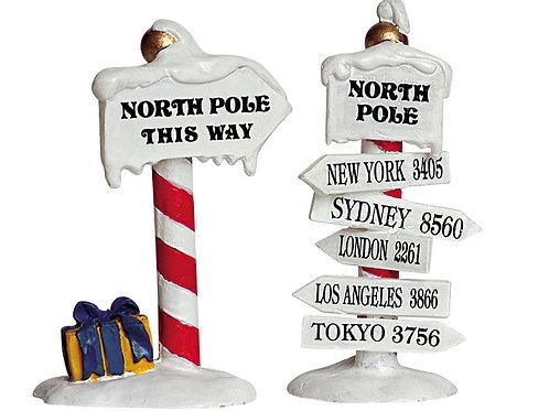 North pole signs