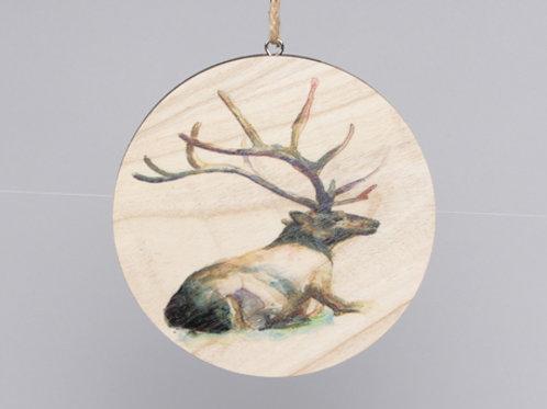 Disco madera ciervo