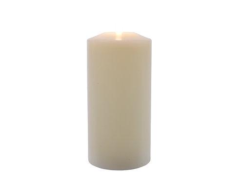 VELA LED DE CERA TIPO IGLESIA COLOR CREMA DIAM. 10X25 CM 1L