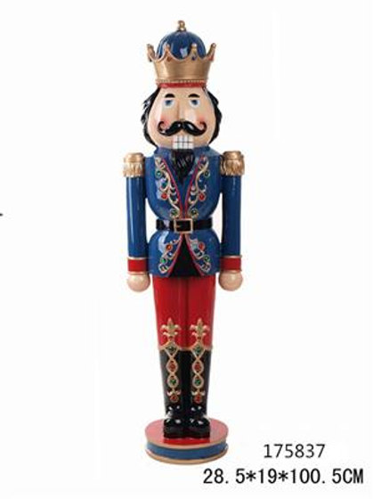 Cascanueces Nutcracker poly Blue/red-28x19x100