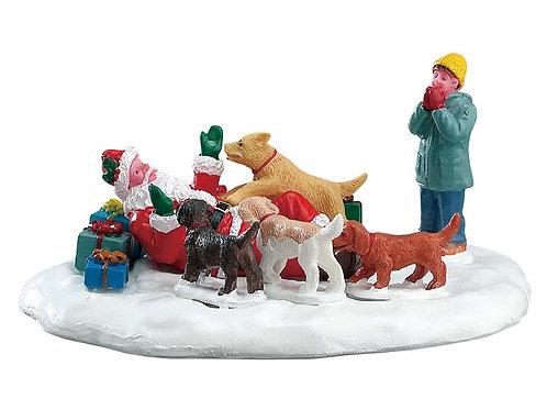 Los perros aman a Santa