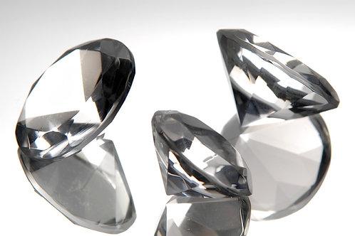 Set 2 diamantes de cristal