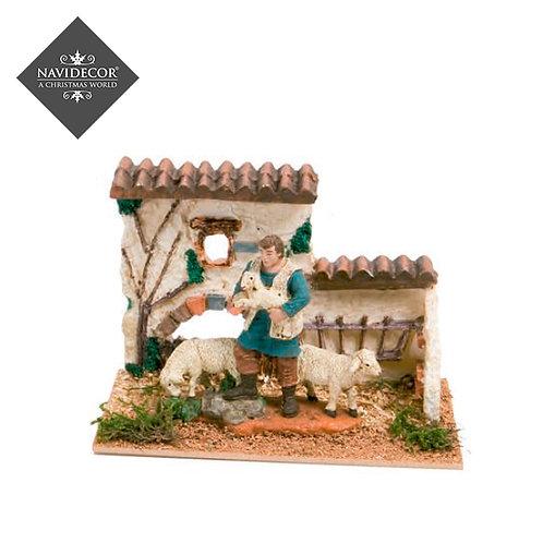 Escena casa ovejas Oliver 8cm
