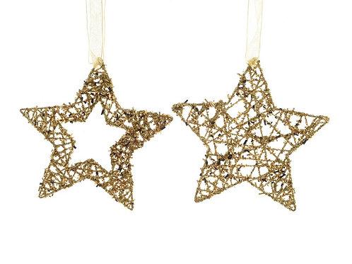 Set 2 estrellas doradas