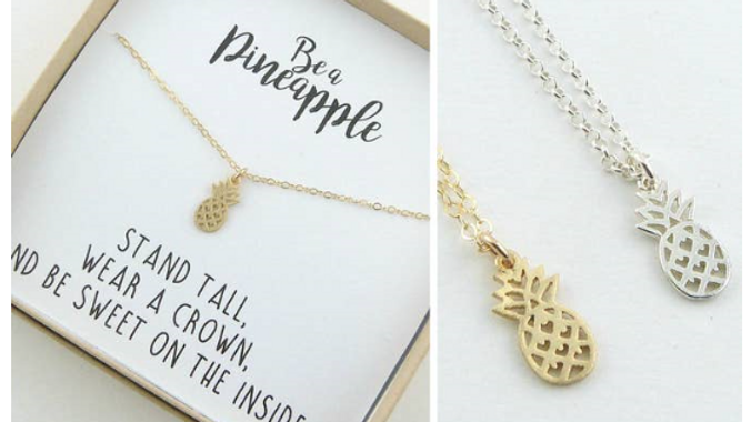 JSV Pineapple Necklace (Silver ONLY)