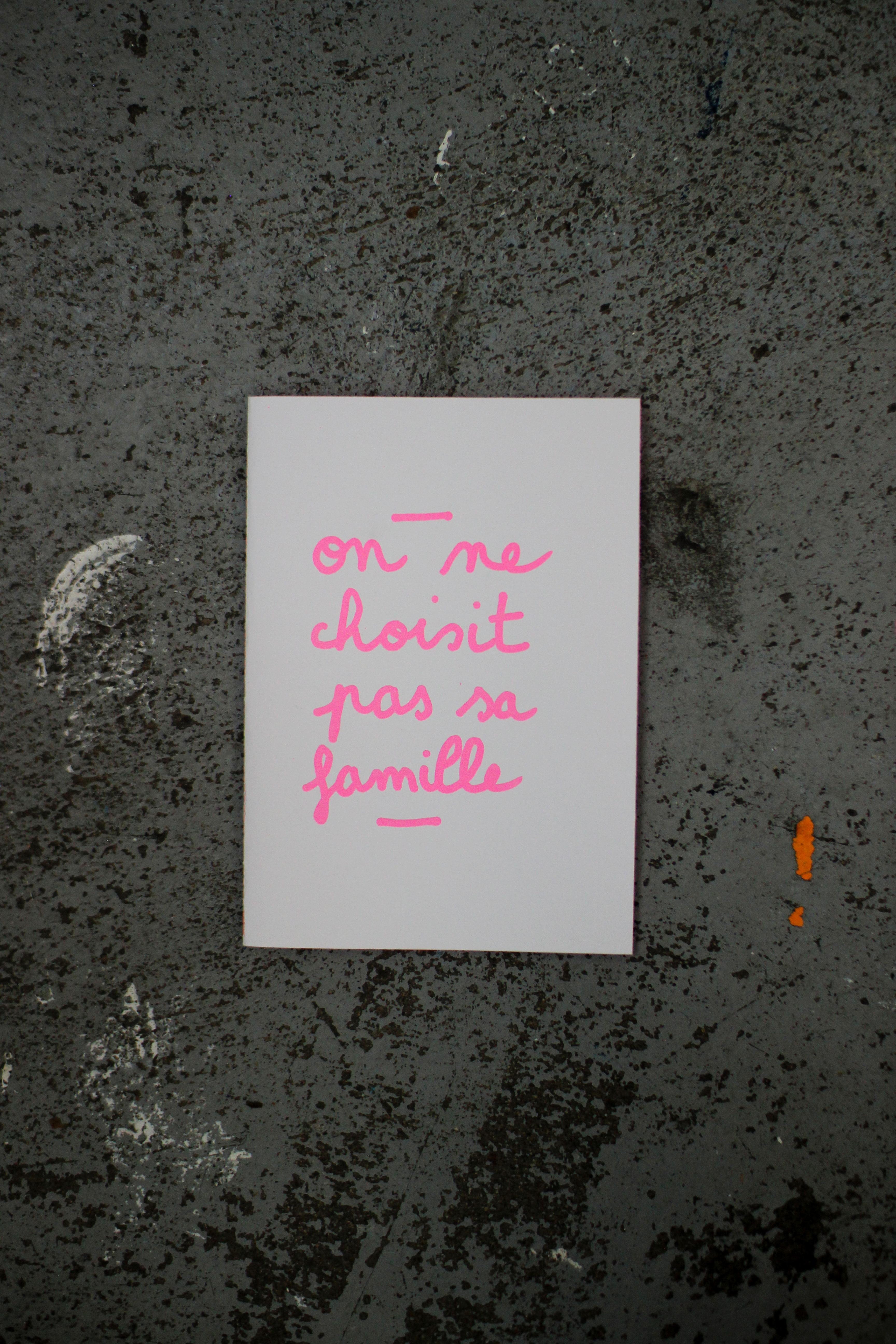 On ne choisit pas sa famille