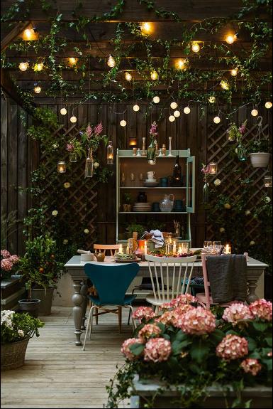 Atmospheric outdoor living, interior design