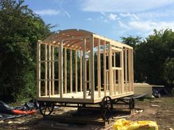 Shepherd Hut frame construction