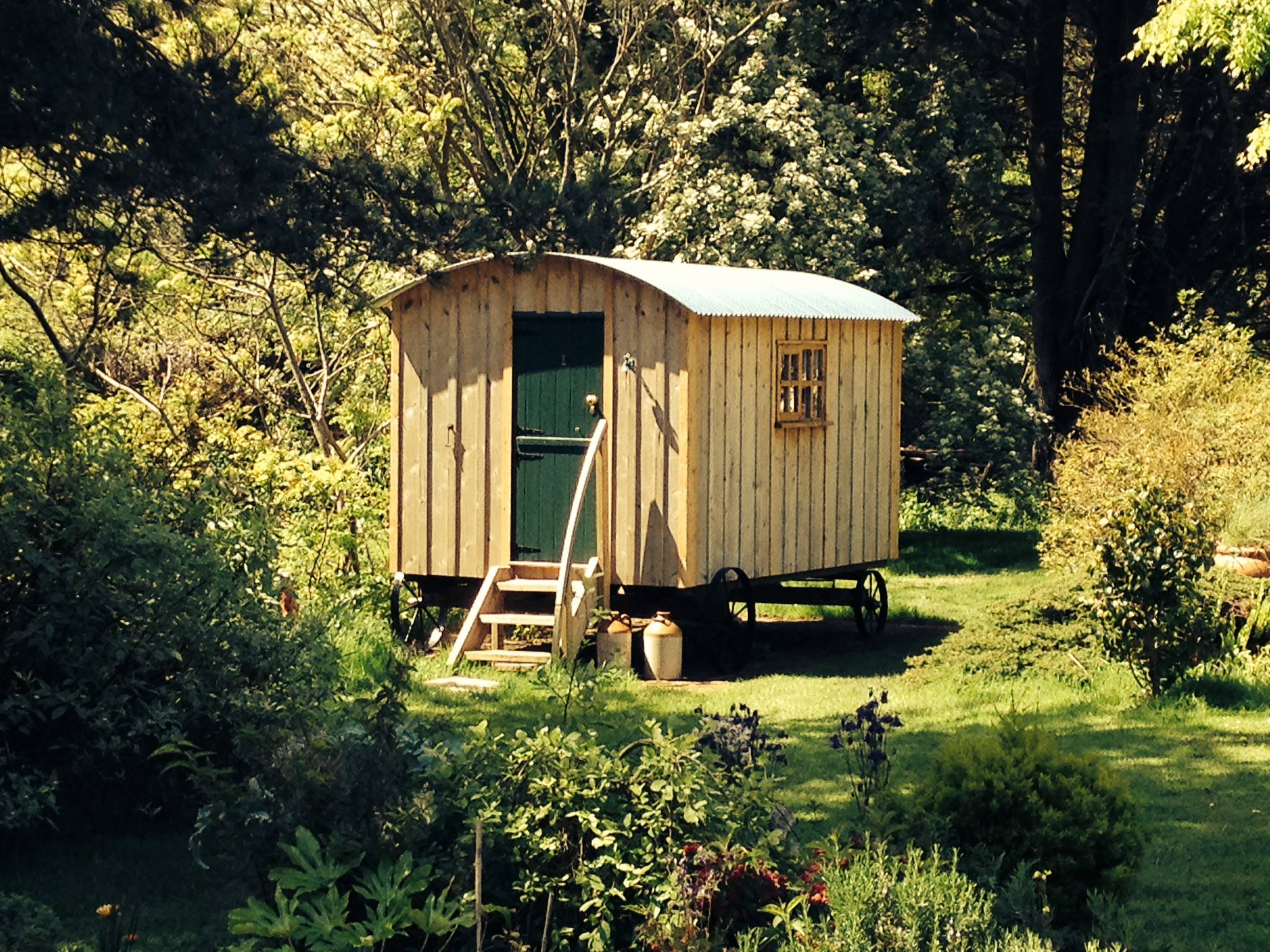 Shepherd hut cedar clad