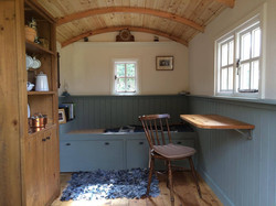 Interior of shepherd hut