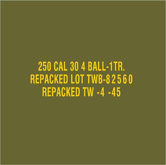 30 CALIBER AMMO BOX BALL Repacked TW Stencil