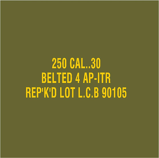 30 CALIBER AMMO BOX 4AP ITR REPKD  Stencil