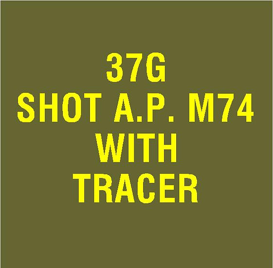 US 37mm M74 AP with Tracer Stencil