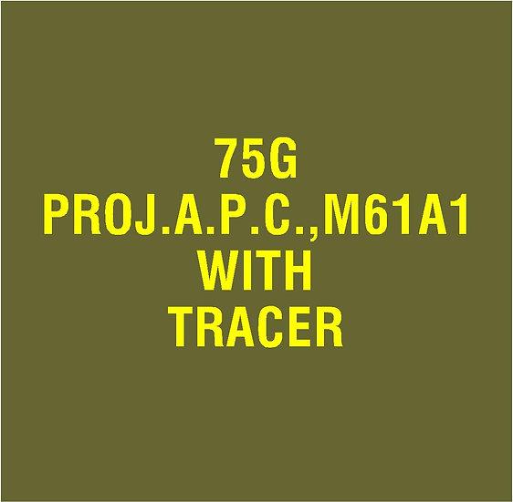 US 75mm M61A1 APC  Stencil