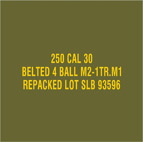 30 CALIBER AMMO BOX BALL M2 1TR Repacked  Stencil