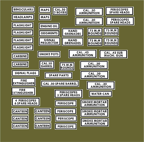 INTERNAL ARMOURED VEHICLE DECALS
