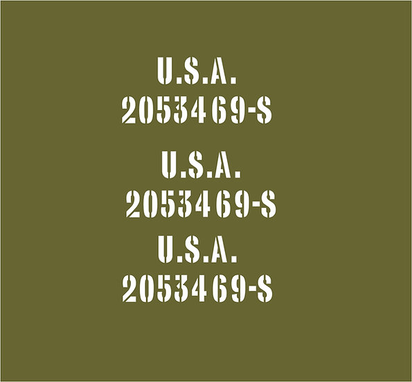 3x US HOOD NUMBERS KIT