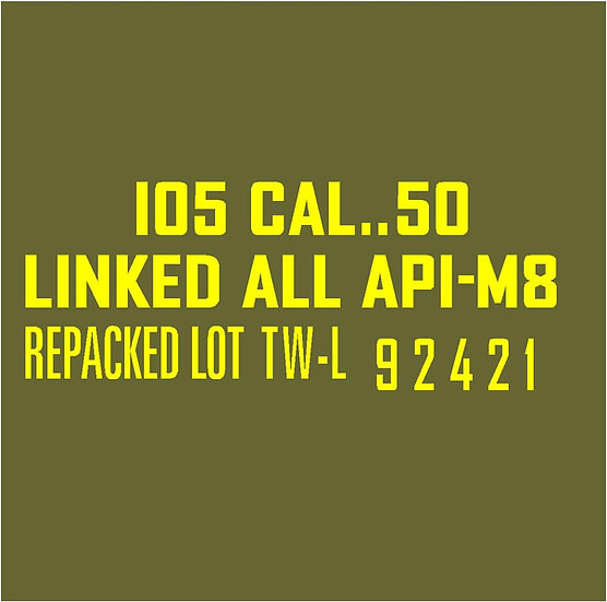 50 CALIBER AMMO BOX API-M8 Repacked  Stencil
