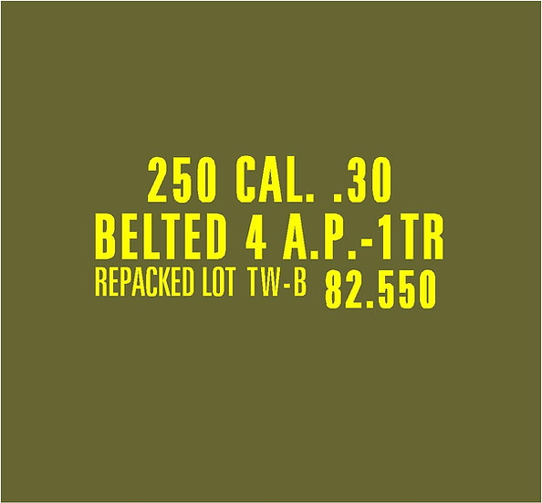 30 CALIBER AMMO BOX Style 2