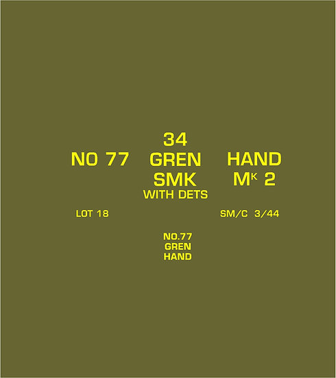 BRITISH B167 No 77 AMMO BOX STENCIL SET