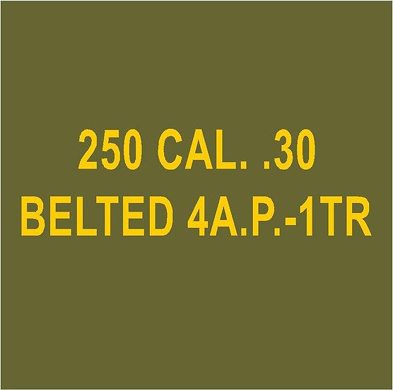 30 CALIBER AMMO BOX 4AP 1TR Stencil