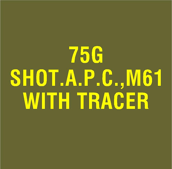 US 75mm M61 APC  Stencil