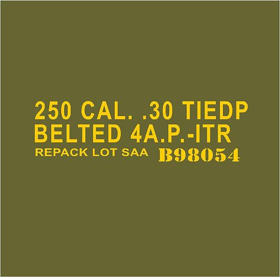 30 CALIBER AMMO BOX 4AP 1TR Repacked  Stencil