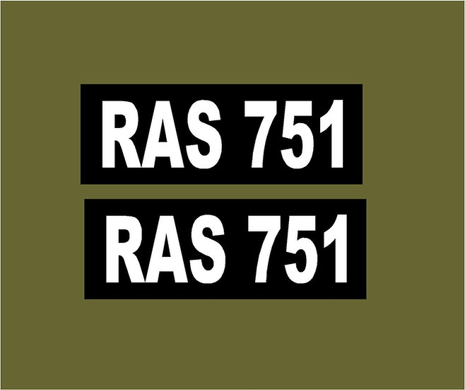 PAIR OF MAGNETIC NUMBER PLATES