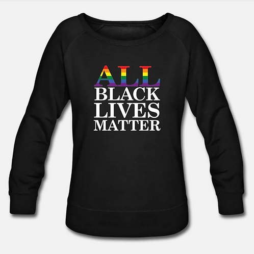 ALL Black Lives Matter Wideneck Crewneck