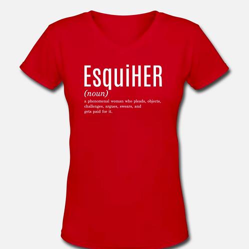 EsquiHER V-Neck T-Shirt