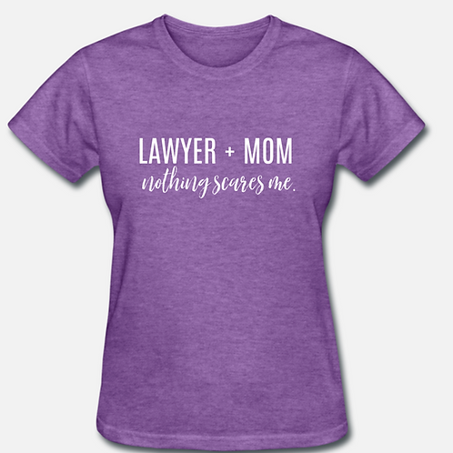IN STOCK/ON SALE (1) SMALL Lawyer + Mom T-shirt