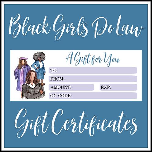 BGDL Gift Certificate