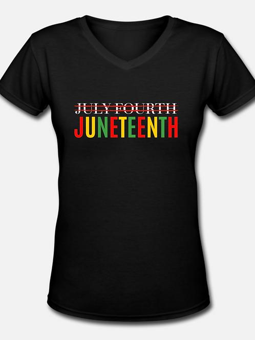 XL Juneteenth V-neck T-shirt