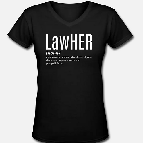 LawHER V-Neck T-Shirt