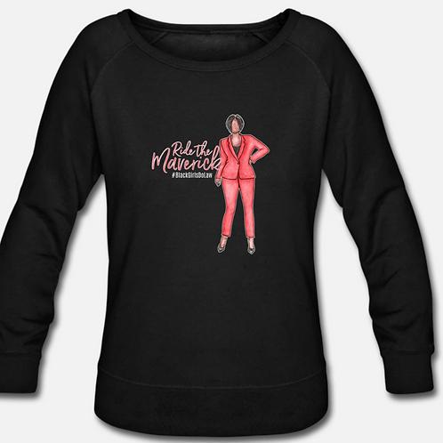 Ride the Maverick Wideneck Crewneck Sweatshirt