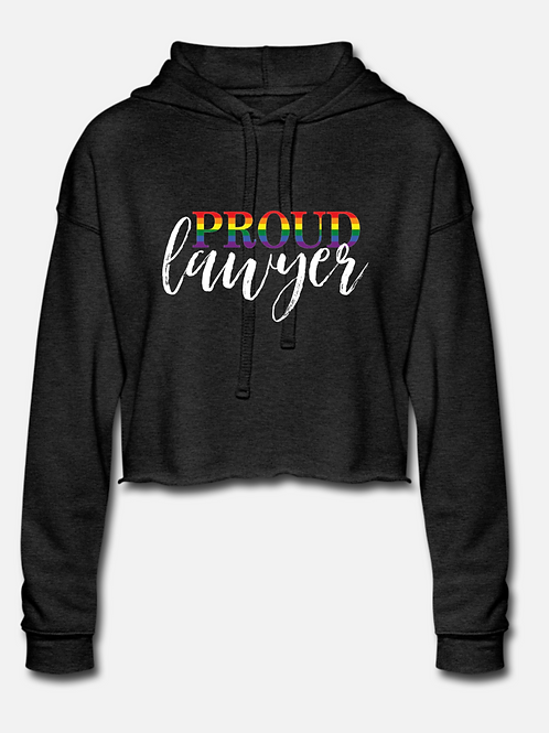 Proud Lawyer Cropped Hoodie