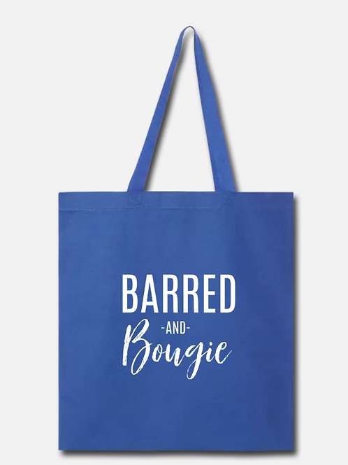 Barred and Bougie Cotton Tote