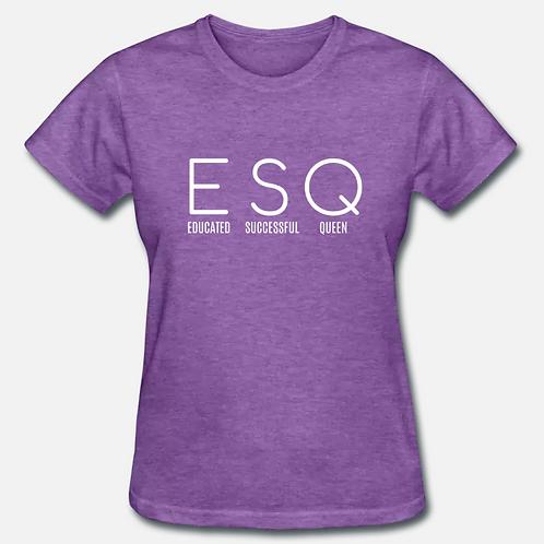 LARGE Heather Purple ESQ T-Shirt