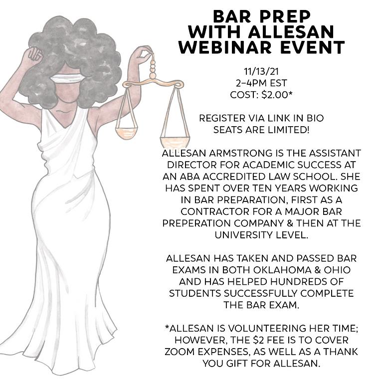 BAR PREP WITH ALLESAN